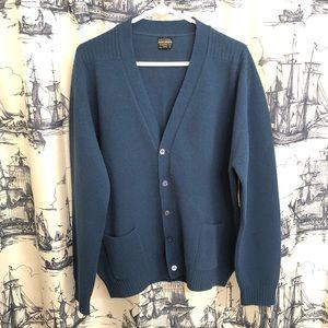 Vintage Brooks Brothers Blue Sweater Cardigan
